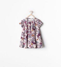 baby girl | printed dress | zara