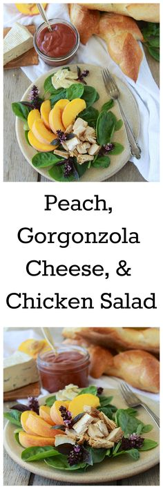 Peach, Gorgonzola Cheese, and Chicken Salad is mouth-watering and packed with delicious nutrition! Keep reading to get your healthy recipe, Peach, Gorgonzola Winter Salad Recipes, Chopped Salad Recipes, Best Salad Recipes, Salad Dressing Recipes, Healthy Recipes, Sweets Recipes, Amazing Recipes, Easy Recipes, Chicken Salad