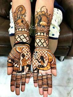 beautiful heena art by radhi kakadiya. Arabic Bridal Mehndi Designs, Arabian Mehndi Design, Wedding Henna Designs, Engagement Mehndi Designs, Indian Mehndi Designs, Modern Mehndi Designs, Henna Designs Easy, Beautiful Henna Designs, Latest Mehndi Designs