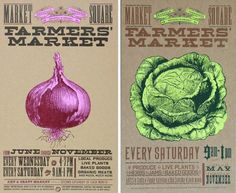 Delicious Industries: Farmers' Market Prints from Yee-Haw Industries