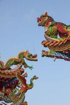 紅毛港天后宮 Sacred Architecture, Chinese Architecture, Futuristic Architecture, Beautiful Architecture, Architecture Office, Chinese Design, Chinese Art, Chinese Theme, Pagoda Temple