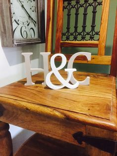 Wedding gift freestanding letters