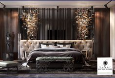 Interior design inspirations for your luxury bedroom lighting. The luxury lamp you need for you interior design project  is  at luxxu.net #interiordesignideas #luxury #interiordesign #lighting #bedroom #bedroomdecor