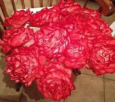 My latest coffee filter flowers