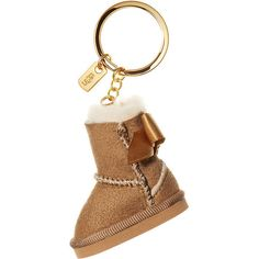 Victoria's Secret Glitter Boot Keychain,brown (43 BAM) ❤ liked on Polyvore featuring accessories, other, key chain rings, victoria's secret, ring key chain, keychain key ring and fob key chain