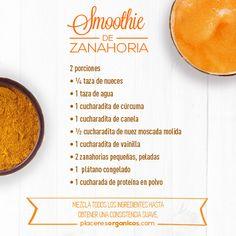 Smoothie de Zanahoria #Delicioso #Recetas, #Salud #Nutrición