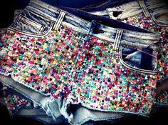sequin shorts say wha!!! @Carolena Belle