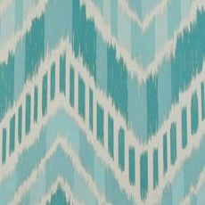 Seaglass, Turquoise and Aqua Chevron by Duralee