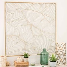 TRIANGLES metal and glass vase | Maisons du Monde