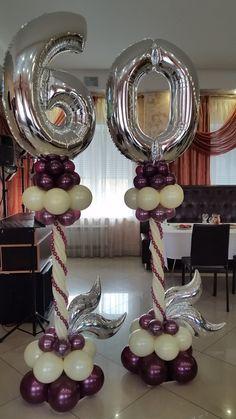 DIY Birthday Decorations for Girls Tween – Balloon Columns – Birthday Ideas – Grandcrafter – DIY Christmas Ideas ♥ Homes Decoration Ideas 60th Birthday Balloons, 60th Birthday Party Decorations, 50th Birthday Party, Happy Birthday Cards, Birthday Greeting Cards, Mom Birthday, Birthday Celebration, Birthday Ideas, Balloon Centerpieces