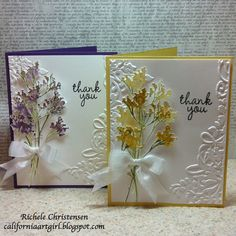 Sizzix: Quick Thank You Cards! Sizzix Eclips looks awesome!