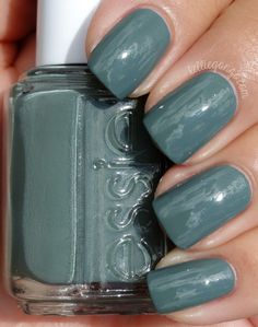 Essie Fall 2014 Dress To Kilt Collection - Fall in Lineis a dusty camo-like cool toned green crème. Freaking fabulous! 2 coats.