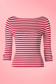 Dancing Days by Banned Sophie Top in Red White Stripes 113 27 17791 20160308 0008W