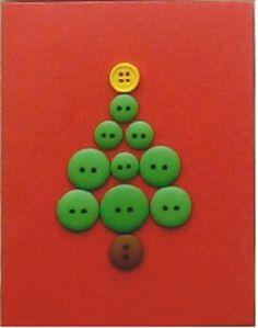 Christmas Tree Button Card