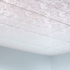 Get the classic look of traditional tin ceilings for a fraction of the cost with Fasade® Traditional Glue-Up Ceiling Tiles. Available in unique finishes and embossed design options, these panels quickly install with just the use of polyurethane construction adhesive. That's it!