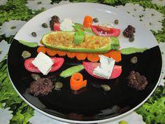 """Zucchina  gorgonzola   verdure   miste e   salsa  alle olive  nere  Gino D'Aquino %""""£$%&/&%$£"""