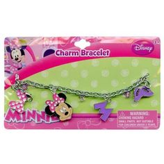 Minnie Mouse Charm Bracelet with metal charms and jelly faceted beads * Read more at the image link.