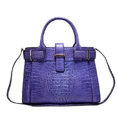 Jranter Caiman Crocodile Leather Tote Purple by Jranter on Etsy, $1650.00