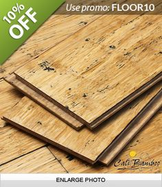 Distressed Natural Wide Plank Fossilized Strand™ Bamboo Flooring