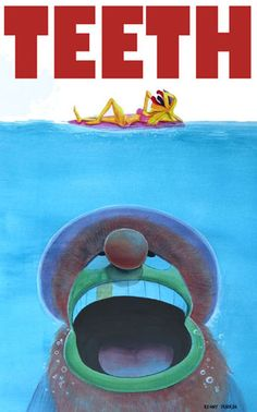 parody of the Jaws movie poster by Kenny Durkin