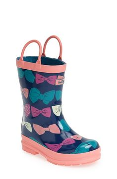 Hatley+'Party+Bow'+Waterproof+Rain+Boot+(Walker,+Toddler+&+Little+Kid)+available+at+#Nordstrom