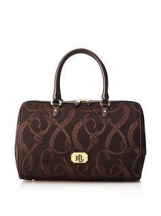 LAUREN Ralph Lauren Women's Peyton Barrel Satchel, Dark Brown/Chestnut, http://www.myhabit.com/redirect/ref=qd_sw_dp_pi_li?url=http%3A%2F%2Fwww.myhabit.com%2Fdp%2FB00NG3MSW6