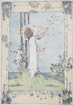 Jessie M King, Butterflies all blue - 1913 by Andrea Speziali, via Flickr