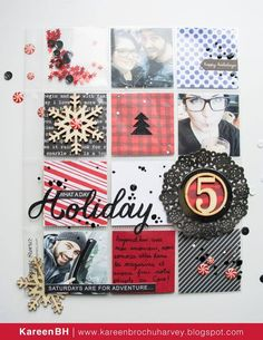 Nice Holiday Page Christmas Mini Albums, Christmas Journal, Christmas Minis, Christmas Books, Christmas Scrapbook Layouts, Scrapbooking Layouts, Scrapbook Cards, December Daily, Project Life Scrapbook
