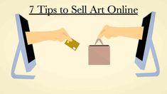 Have you started selling art online? Check out these 7 tips to stay ahead of the game and get the most out of selling your art online! Where To Sell, Social Media Buttons, Selling Art Online, Online Checks, Online Work, Sell On Etsy, Cool Lighting, Painting Tips, Art Tips