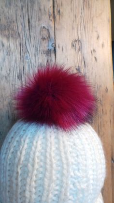 5aecffd6940 Spare Magenta Pink Faux Fur Pom Pom 17cm Bobble for hat with press stud.  Extra long fur. Large Detachable pom pom. 52 colours