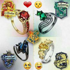 Quale anello vi piace di più? ⚡ #Smistamento commentate con le vostre case di appartenenza ⚡  ⚡Hermione⚡