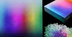 A 1,000-piece CMYK Color Gamut Jigsaw Puzzle by Clemens Habicht  http://www.thisiscolossal.com/2014/12/1000-colors-jigsaw-puzzle/