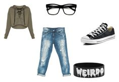 Untitled by weirdieme on Polyvore featuring Sans Souci, Converse and ZeroUV
