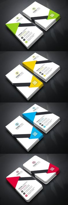 Business Card Unique Business Cards, Business Card Design, Creative Business, Corporate Flyer, Corporate Business, Name Card Design, Graphic Design, Cv Design, Invitation Cards