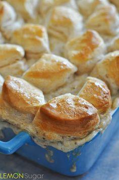 Biscuits and Gravy Casserole   www.lemon-sugar.com