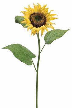 "Silk Sunflower in Yellow 6"" Bloom x 30"" Tall"