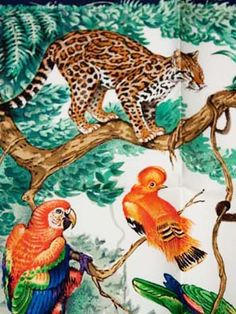 vintage Hermes Equateur scarf design by Robert Dallet, soon to be a limited edition wallpaper