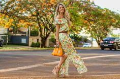 Marina Casemiro, look do dia, vestido, longo, fenda na perna, cinto marrom, floral, bolsa laranja, coach, sandália plataforma, zaus boutique, ribeirão preto-12-1