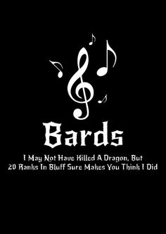 DnD Inspired Bards T-shirt by WordPlayPrints on Etsy