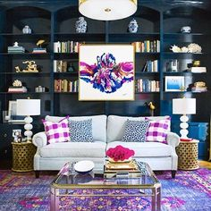 Obsessed with this room by @cassiesugarplum and @hunted_interior for the #oneroomchallenge. Well done ladies!!