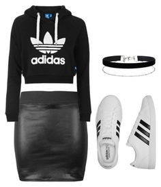 """Adidas"" by rebecca-rhein on Polyvore featuring Topshop, adidas and Miss Selfridge"