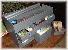 boite cartonnage pratique pour ranger son matériel
