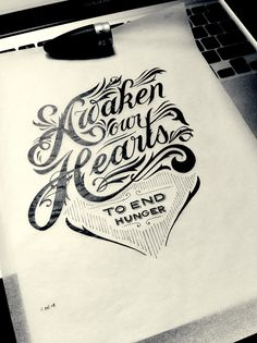 Hand Drawn Type (Designed by Drew Melton) typography design lettering
