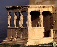 Erecteion (Atenas). Pórtico de las Cariátides