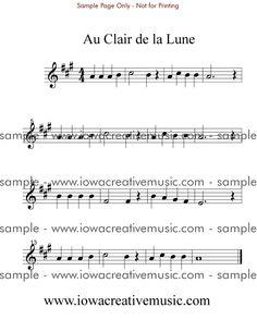 Free sheet music clair de lune piano