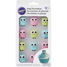 Owl Edible Icing Decorations