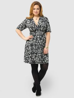 January 14th Launch:Floral Print Knotted Front Dress by NY Collection,Available in sizes 1X-3X