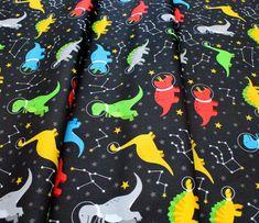 Robert Kaufman Fabrics Dino-Soar AHE-19731-348 Space Dinosaurs Black Robert Kaufman, Space, Fabric, Floor Space, Tejido, Tela, Cloths, Fabrics, Tejidos