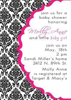 MollyAnne-Custom Baby Shower Invitation- PRINTABLE INVITATION DESIGN