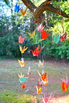 i'm in love with paper cranes.